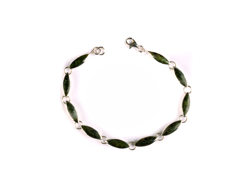 Celtic Desire Jewellery Connemara Marble Stone Set Silver Celtic Bracelet