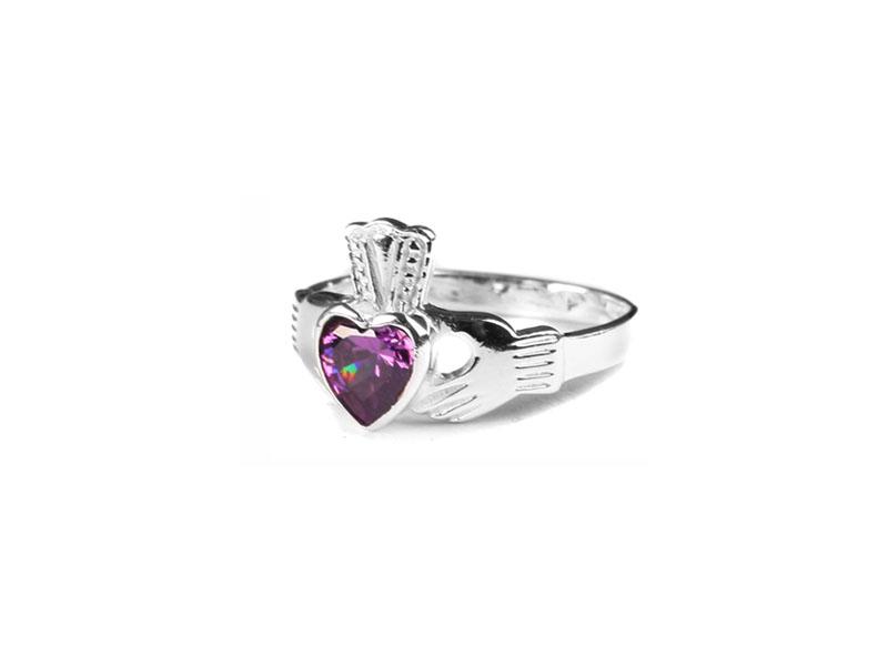 efc1801b71721 Claddagh Amethyst BirthStone Ring